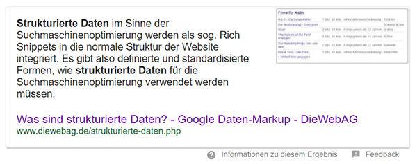 answer-box strukturierte daten google