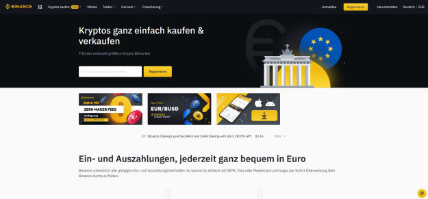 Binance Kryptos kaufen