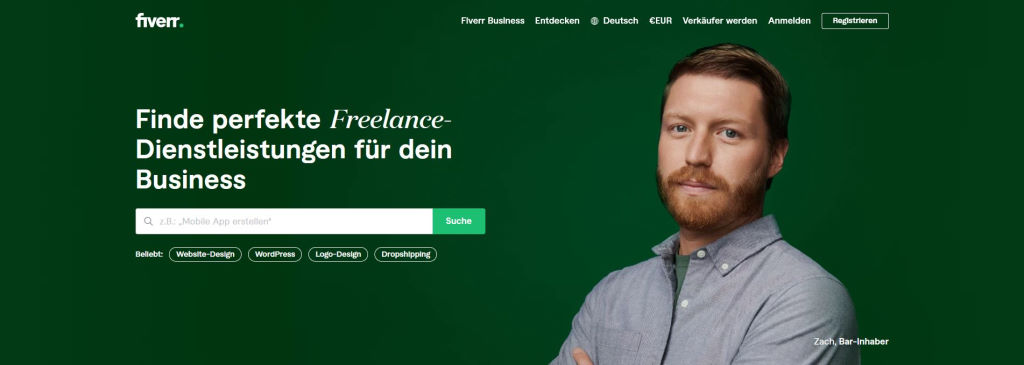 Fiverr Dienstleistungen