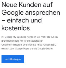 Google Konto für Google my business