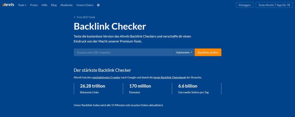 Kostenloser Backlink Checker