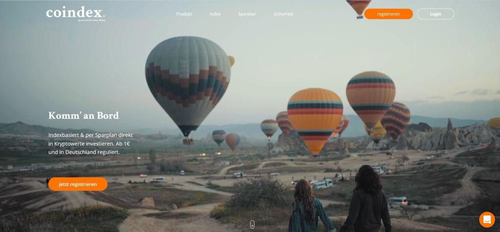 Coindex webseite